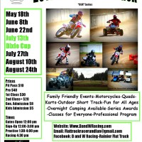 Rainier Flat Track Season Opener May 18th! 2013 Summer Series Information!